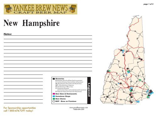 new hampshire brewery map New Hampshire Good Beer Map Brewing News new hampshire brewery map