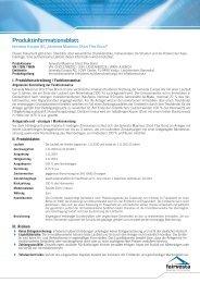 Produkt-Informationsblatt Maxiums Short Flex Bond - fairvesta ...