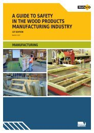 a guide to safety in the wood products ... - WorkSafe Victoria