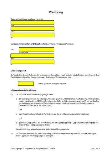 20051208 Pfandvertrag - Sachwert Invest