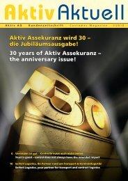 30 years of Aktiv Assekuranz – the anniversary issue!