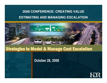 Strategies to Model & Manage Cost Escalation - Canadian Society ...