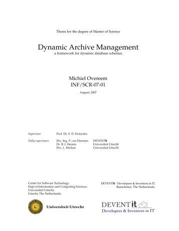 Thesis for master of science
