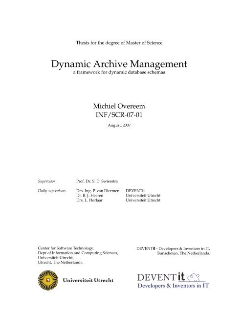 Thesis For The Degree Of Master Of Science