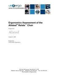 Ergonomics Assessment of the Allsteel Relate Chair