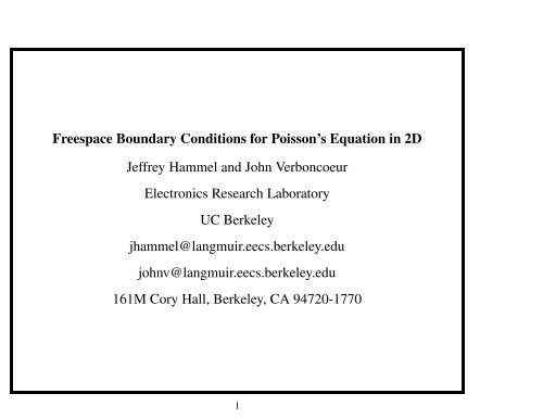Freespace Boundary Conditions for Poisson's Equation in 2D
