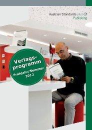 Verlagsprogramm - Austrian Standards plus