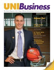 Game On! - College of Business Administration - University of ...