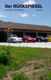 Volume 38 Issue 5, May 2011 - Maumee Valley - Porsche Club of ...