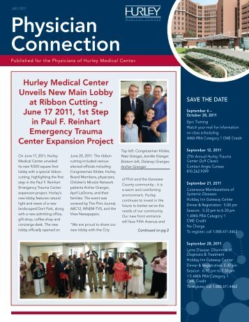 July 2011 - Hurley Medical Center Education & Research