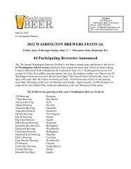 2012 washington brewers festival - Washington Beer Commission