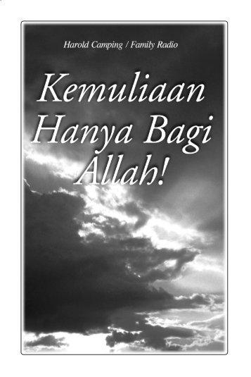 Kemuliaan Hanya Bagi Allah! - Family Radio Worldwide