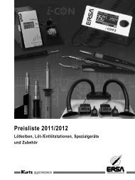 Preisliste 2011/2012 - ERSA-Shop