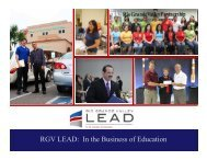 2012-2017 Strategic Plan - RGV LEAD