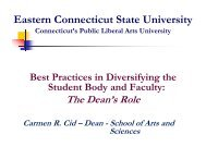 Eastern Connecticut State University - Council of Colleges of Arts ...