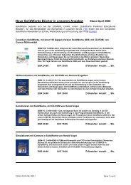 Neue SolidWorks Bücher in unserem Angebot Stand April 2008