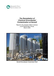 The Remediation of Chemical Groundwater Contamination at Harwell