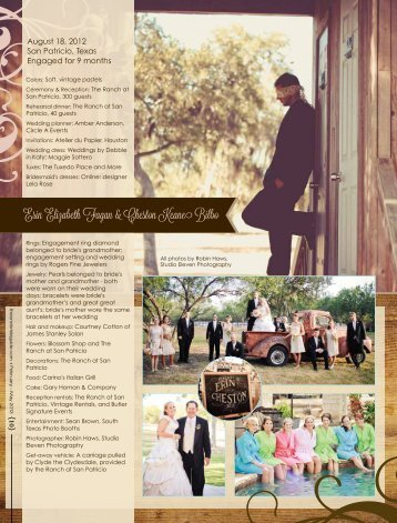 Erin Elizabeth Fagan & Cheston Keane Bilbo - The One Bride Guide