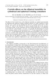 Coriolis effects on the elliptical instability in cylindrical and spherical ...