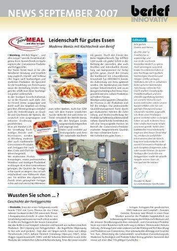 news september 2007 - Berief Innovativ