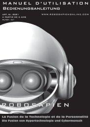 Bedienungsanleitung - WowWee Robosapien - myRobotcenter
