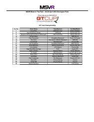 MSVR Blast In The Park 28-29 April - MotorSport Vision Racing