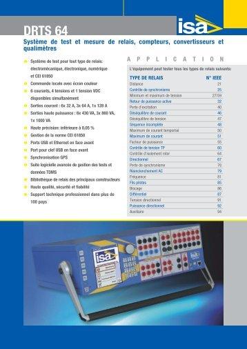 Fiche technique DRTS64 - RE-EL & Services