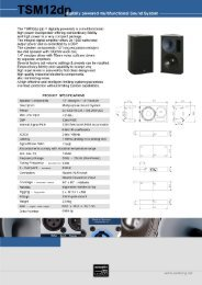 TS M 1 2 d itally powered multifunctional Sound System