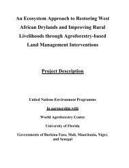 West Africa Drylands - World Agroforestry Centre