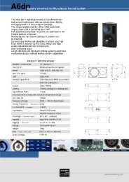 A6 d itally powered multifunctional Sound System - Seeburg ...
