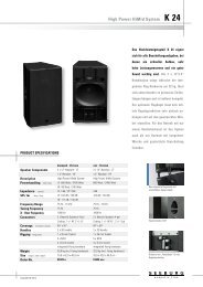 High Power HiMid System K 24 - Seeburg acoustic line