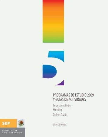 Programa de Estudio 2009 Quinto grado - Sepdf.gob.mx