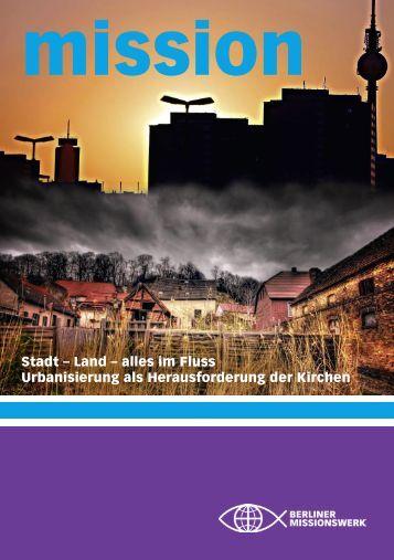 Stadt – Land – alles im Fluss Urbanisierung als Herausforderung ...