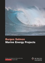 Marine Energy Projects - Burges Salmon