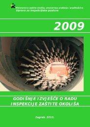 Godišnje izvješće o radu inspekcije zaštite okoliša za 2009. godinu