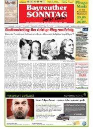 Stadtmarketing: Der richtige Weg zum Erfolg - Bayreuther Sonntag