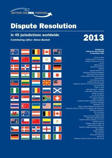 Getting the deal through – Dispute Resolution 2013 - Gilbert + Tobin