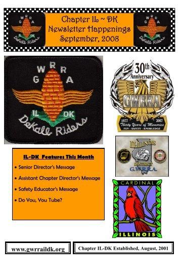 Chapter IL ~ DK Newsletter Happenings September ... - Gwrraildk.org