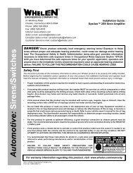 14468: Epsilon™ 2S9 Siren Amplifier - Whelen Engineering
