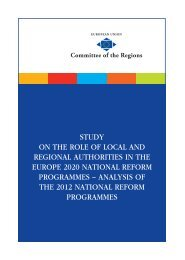 On the Role of the Local and Regional Authorities ... - Sign In - Europa
