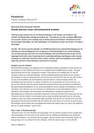 Persbericht Goede plannen maar uitvoerbaarheid ... - MBO Raad