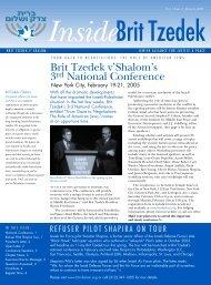 January 2005 - Brit Tzedek v'Shalom