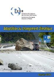 Adaptation au changement climatique - CEDR