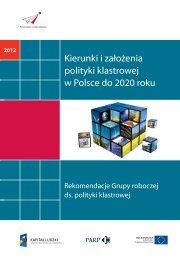 Kierunki i założenia polityki klastrowej w Polsce do 2020 roku