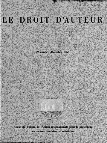 Le Droit D'Auteur - WIPO