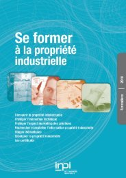 Catalogue des formations 2010 - Inpi
