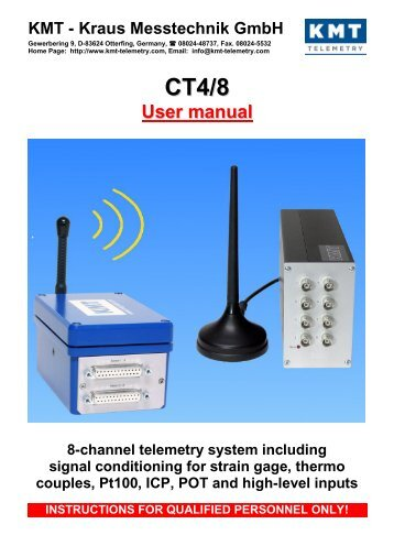 User manual - KMT Telemetry