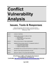 Conflict Vulnerability Analysis: Issues, Tools, and Responses - certi