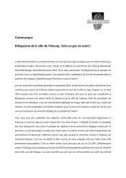 Communiqué Bilinguisme de la ville de Fribourg - Deutschfreiburger ...