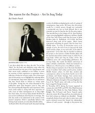 The reason for the Project – Art In Iraq Today - Contemporary Practices